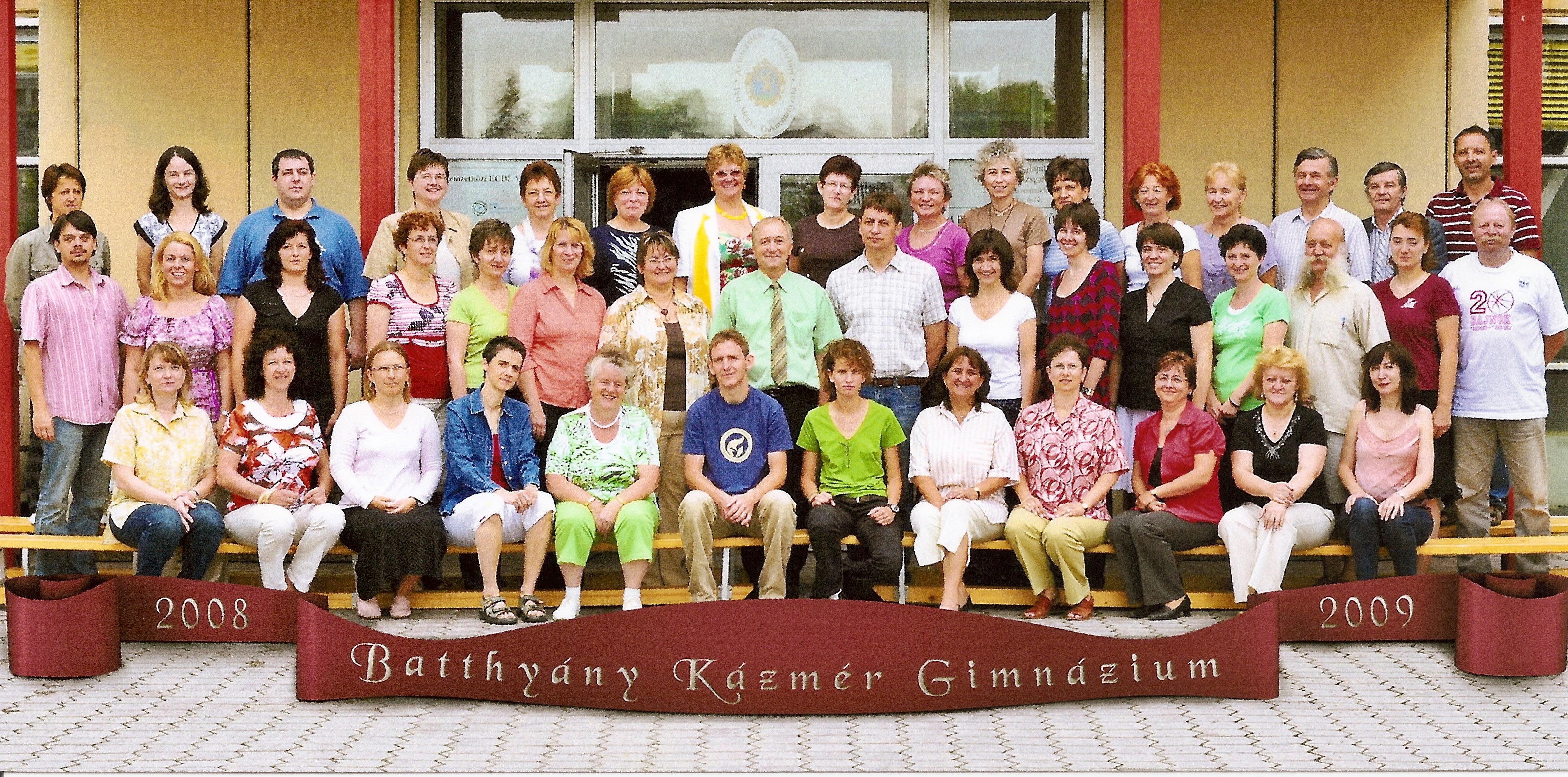 2008. BKG tanári kar